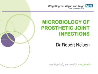 MICROBIOLOGY OF PROSTHETIC JOINT INFECTIONS