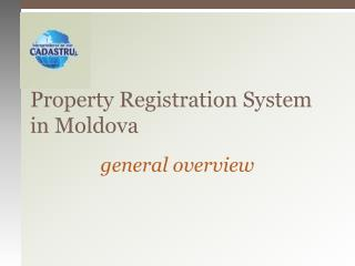 Property Registration System in Moldova