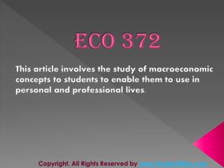 ECO 372 Final Exam Answers