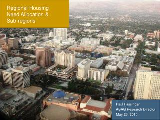 Regional Housing Need Allocation & Sub-regions