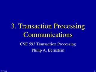 3. Transaction Processing Communications