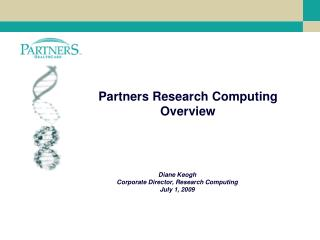 Partners Research Computing Overview