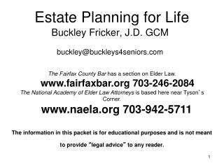 Estate Planning for Life