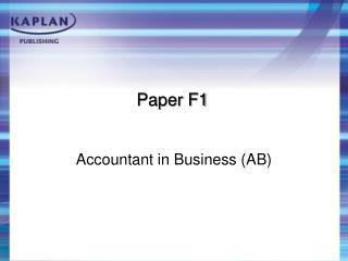 Paper F1