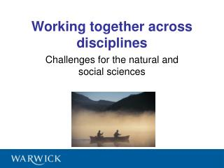 Working together across disciplines
