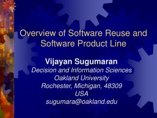 Overview of Software Reuse and Software Product Line