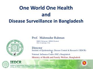 One World One Health and Disease Surveillance in Bangladesh
