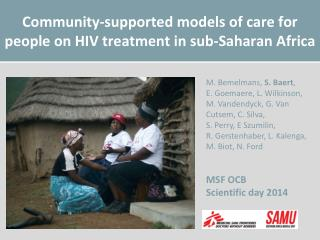 Community-supported models of care for people on HIV treatment in sub-Saharan Africa
