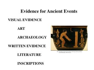 Evidence for Ancient Events