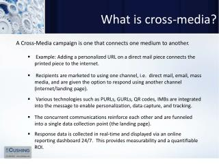 What is cross-media?