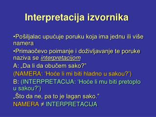 Interpretacija izvornika