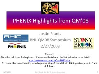 PHENIX Highlights from QM'08