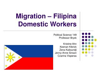 Migration – Filipina Domestic Workers