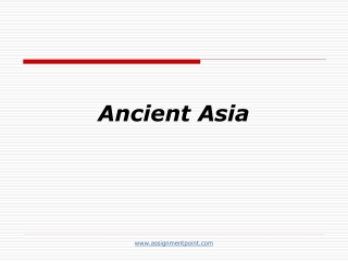 Ancient Asia