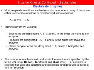 Bisubstrate Enzymes
