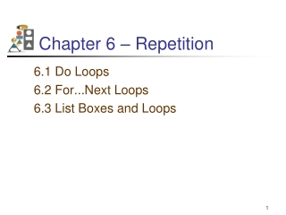 Chapter 6:  Repetition