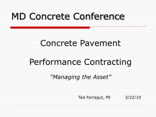 MD Concrete Conference