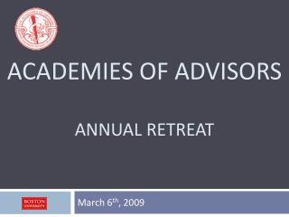 Academies of advisors annual retreat