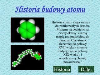 Historia budowy atomu