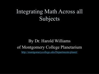 Integrating Math Across all Subjects