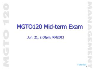 MGTO120 Mid-term Exam