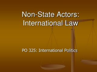 Non-State Actors: International Law