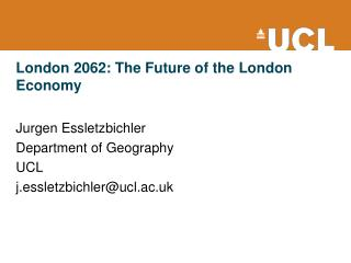 London 2062: The Future of the London Economy