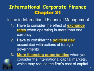 CHAPTER 4 PARITY CONDITION IN INTERNATIONAL FINANCE AND CURRENCY FORECASTING