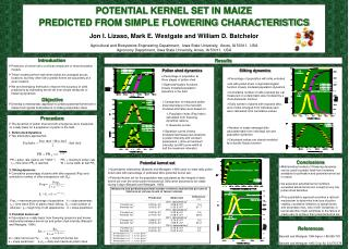 Introduction Prediction of kernel set is a critical component of most simulation models.