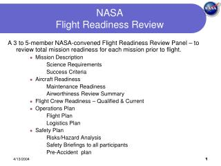 NASA   Flight Readiness Review