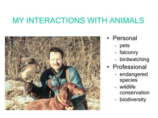 MY INTERACTIONS WITH ANIMALS