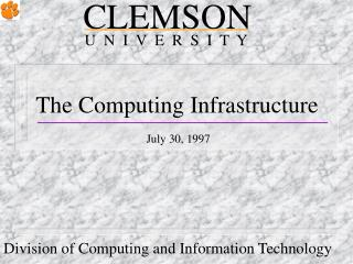 The Computing Infrastructure