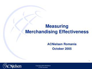 Measuring  Merchandising Effectiveness