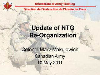Update of NTG  Re-Organization
