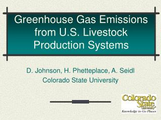 Greenhouse Gas Emissions from U.S. Livestock Production Systems