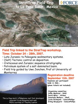 StratTrap Field Trip  to La Popa Basin, Mexico