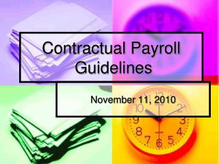 Contractual Payroll   Guidelines
