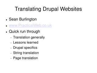 Translating Drupal Websites