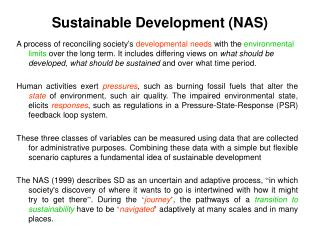 Sustainable Development (NAS)