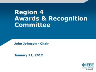 Region 4  Awards & Recognition Committee