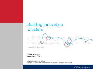 Building Innovation Clusters