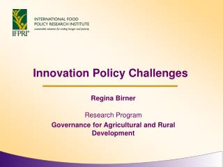 Innovation Policy Challenges