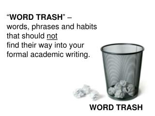 WORD TRASH