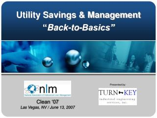 "Utility Savings & Management "" Back-to-Basics"""