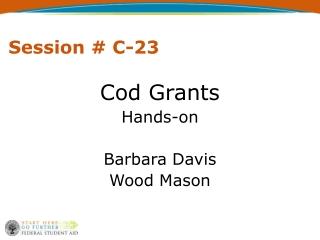 Session # C-23