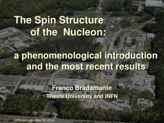 Franco Bradamante Trieste University and INFN
