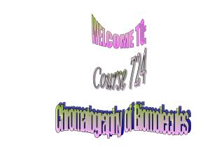WELCOME TO: