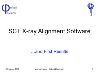 SCT X-ray Alignment Software