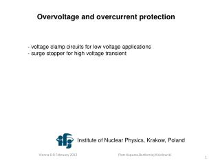 Overvoltage and overcurrent protection
