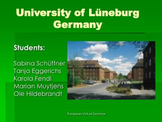 University of Lüneburg Germany